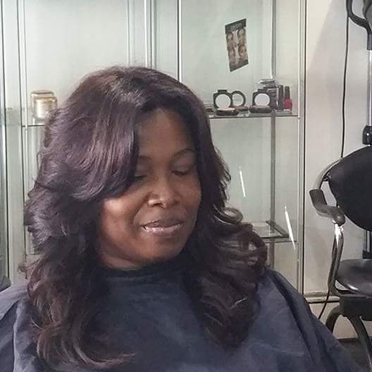 client image Lace front wig, supplied and fitted