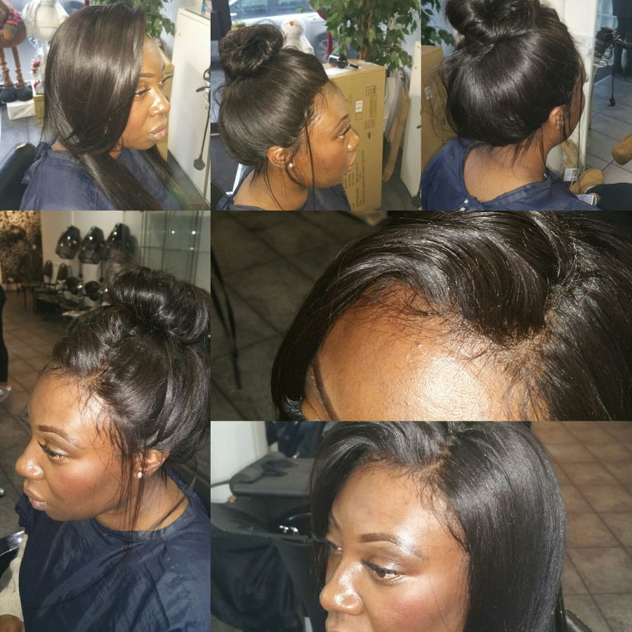 client image lace front wig, stylish, versatile and fully fitted by us