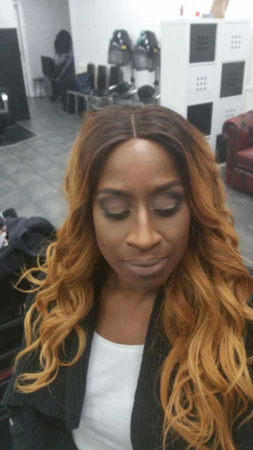 client image full head weave custom coloured and installed by us