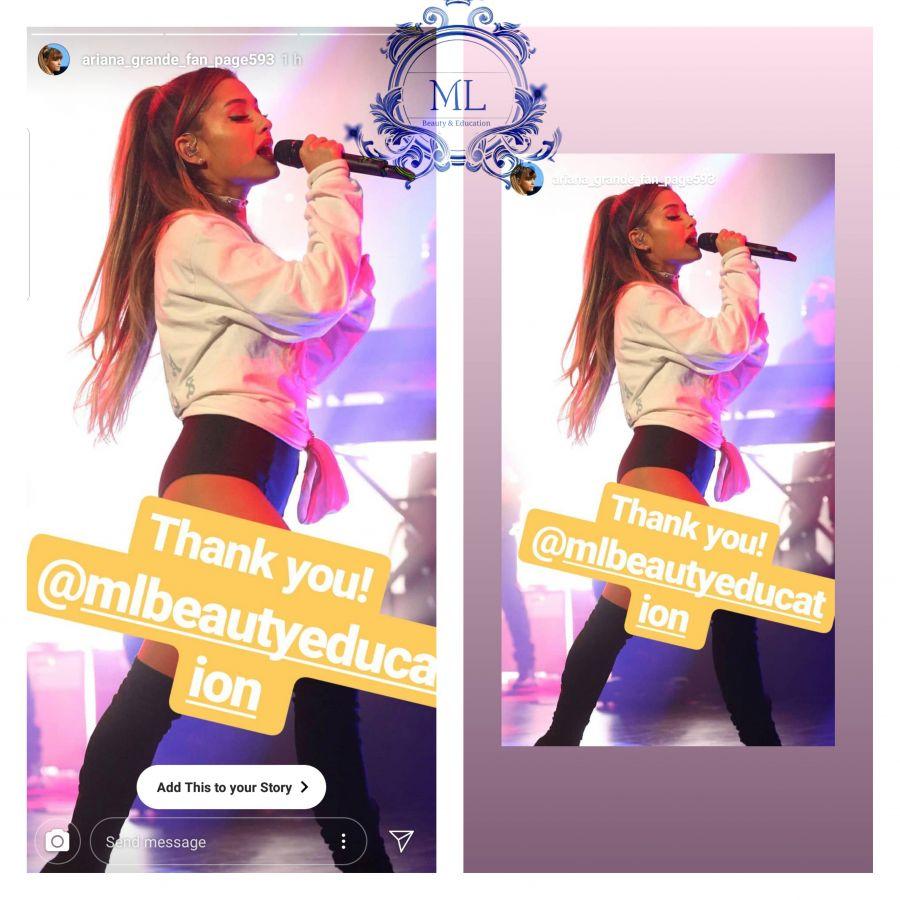 Ariana Grande lash stylist